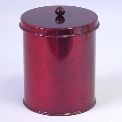 Dóza plech vánoční velká pr.12,5,V15,5cm červená
