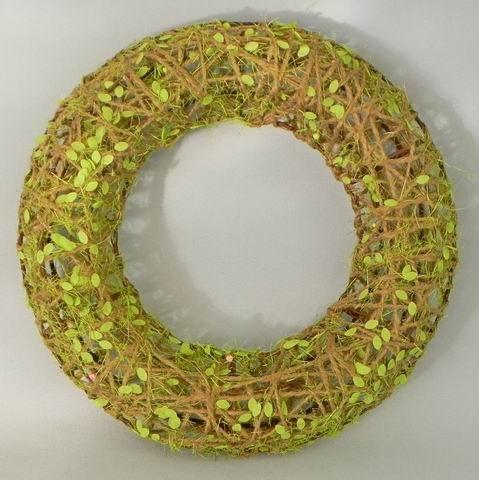 Kruh kov/provaz/pvc zelená
