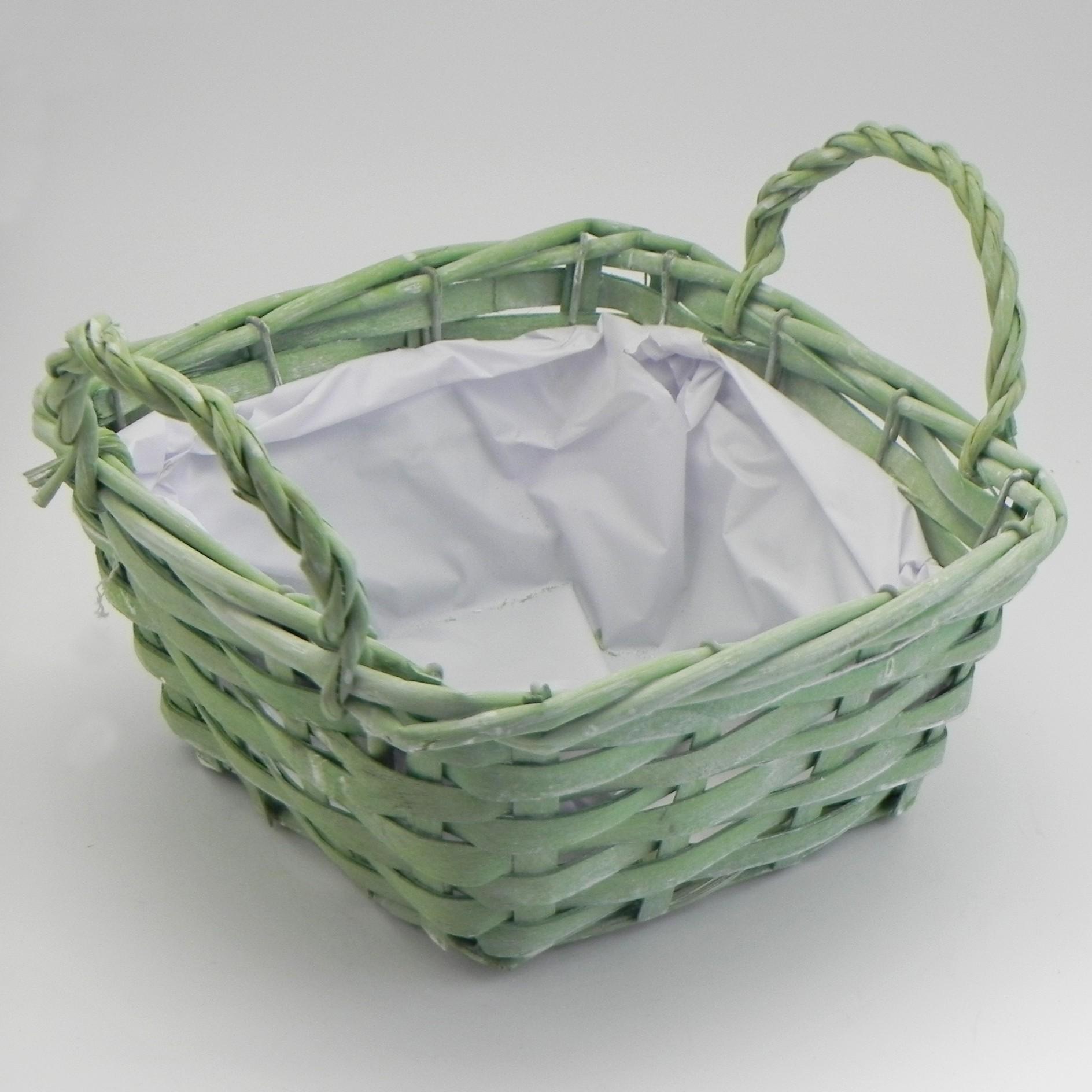 Košík proutí zelená
