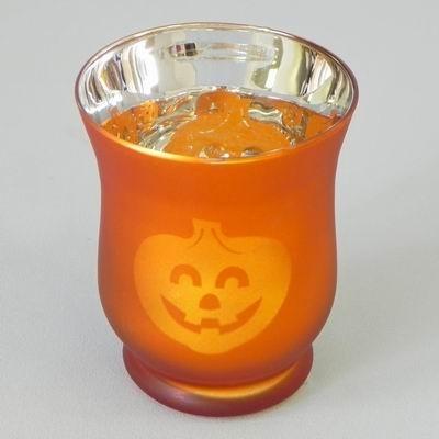 Svíčník s dýní halloween oranžová