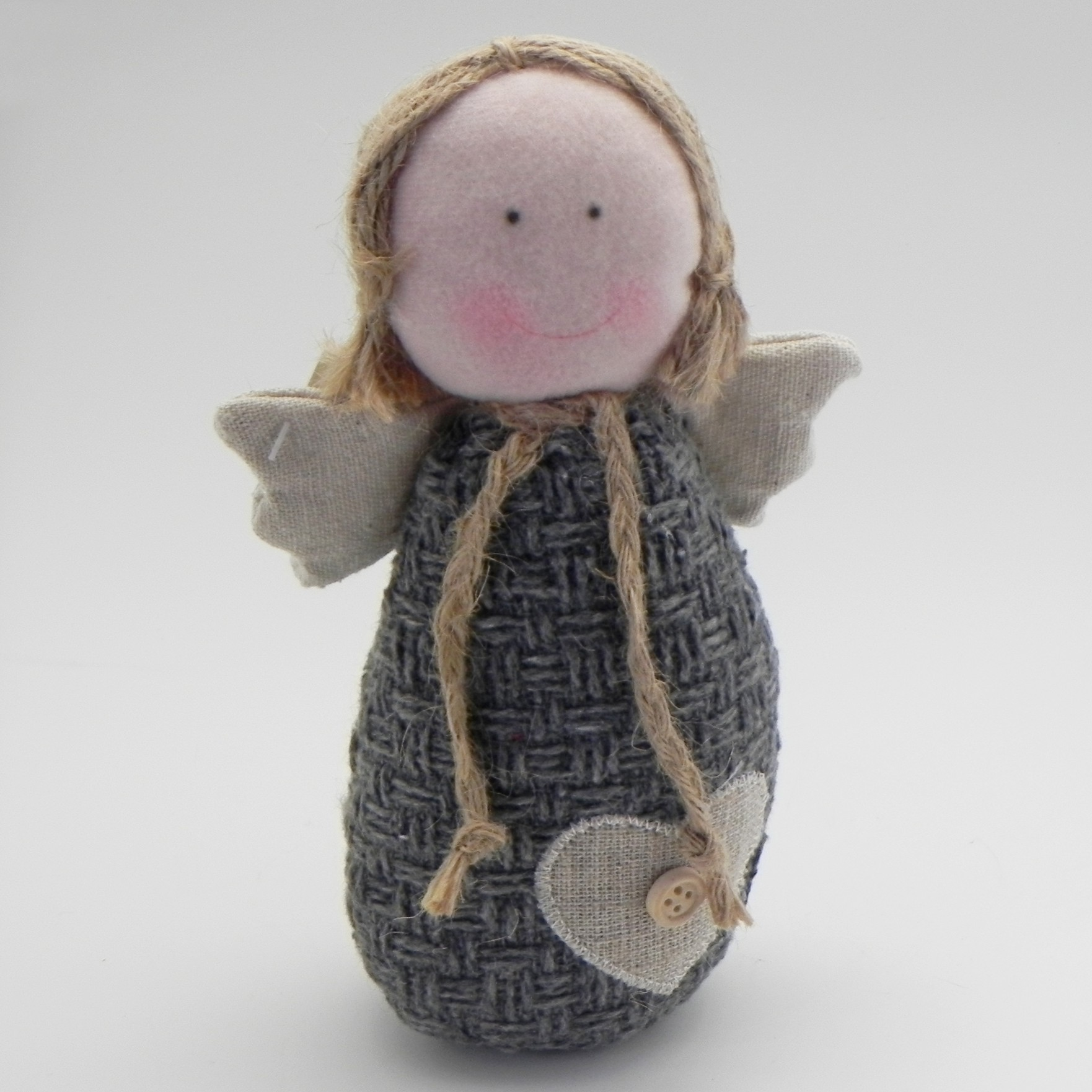 Anděl textil šedá