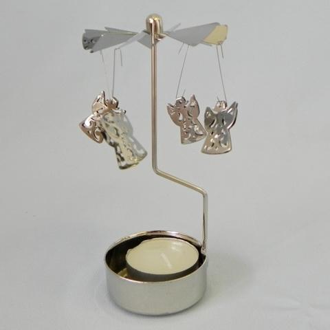 Andělské zvonění anděl kov pr.6,5V13,8cm stříbrná
