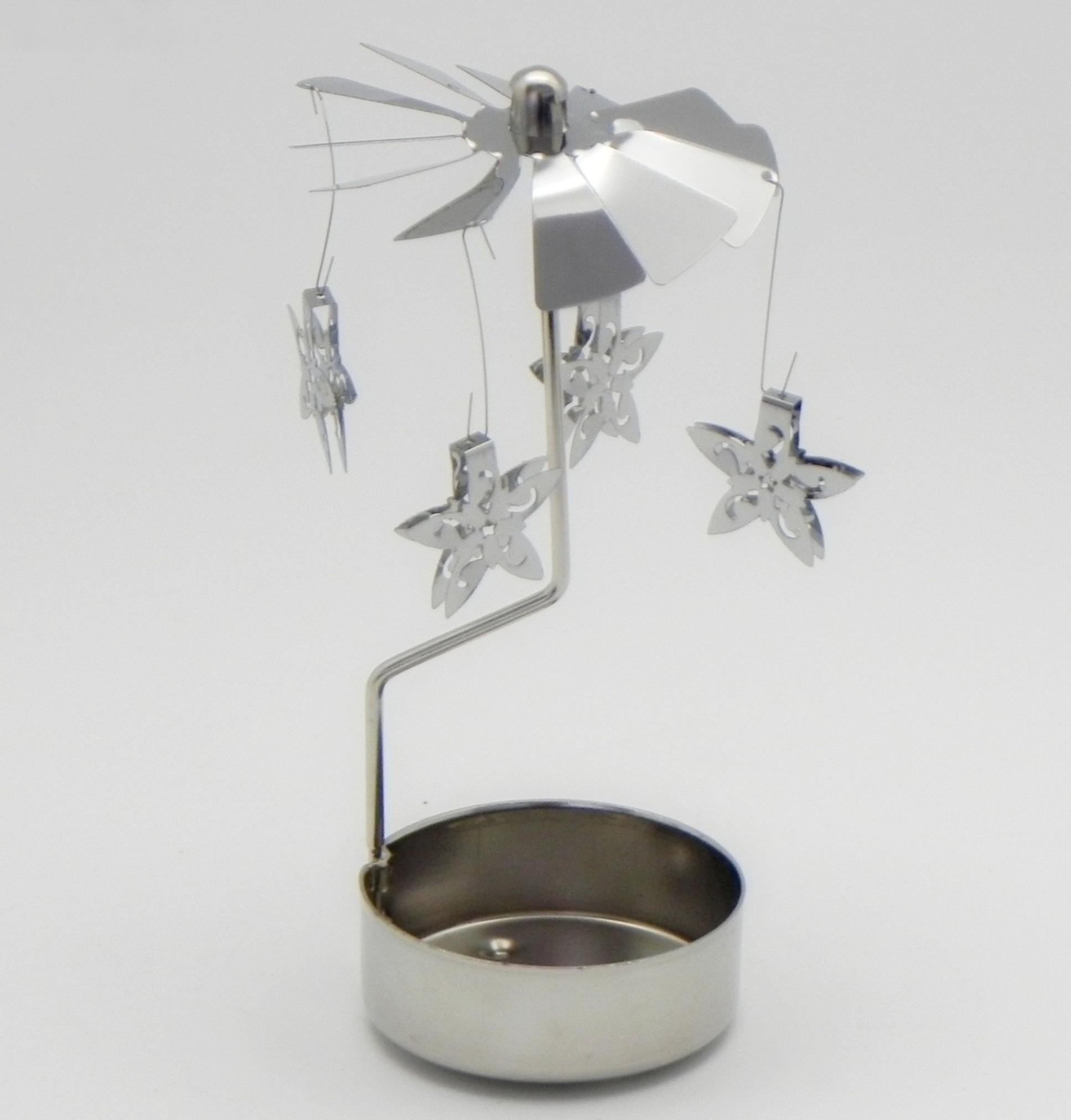 Andělské zvonění hvězda kov V12,5cm stříbrná