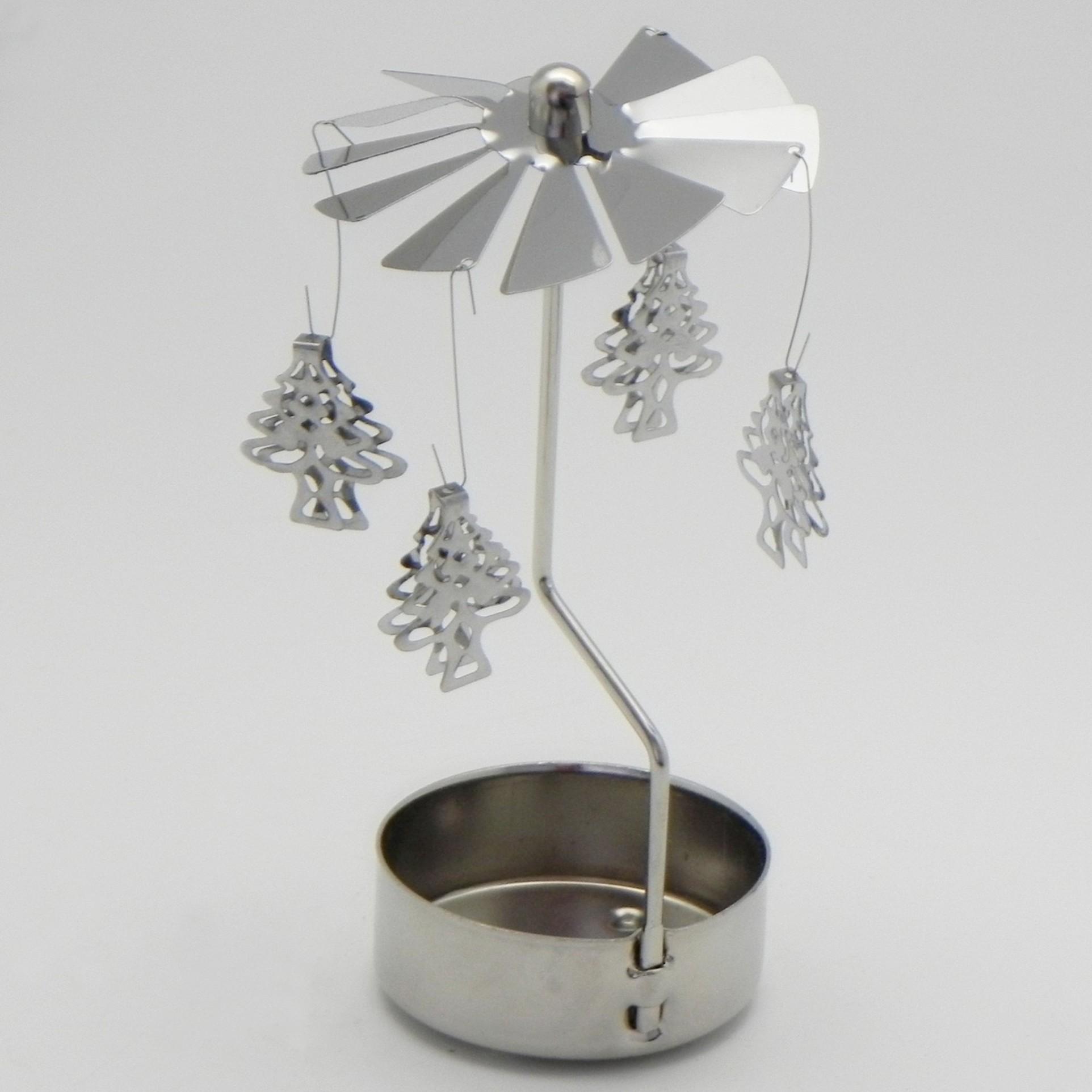Andělské zvonění stromeček kov pr.6,5V13,8cm stříbrná