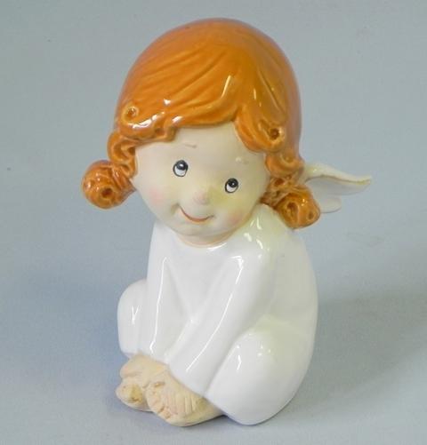 Anděl keramika bílá