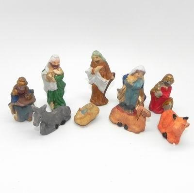 Figurky do betlému porcelán 9ks/7,5cm kazeta