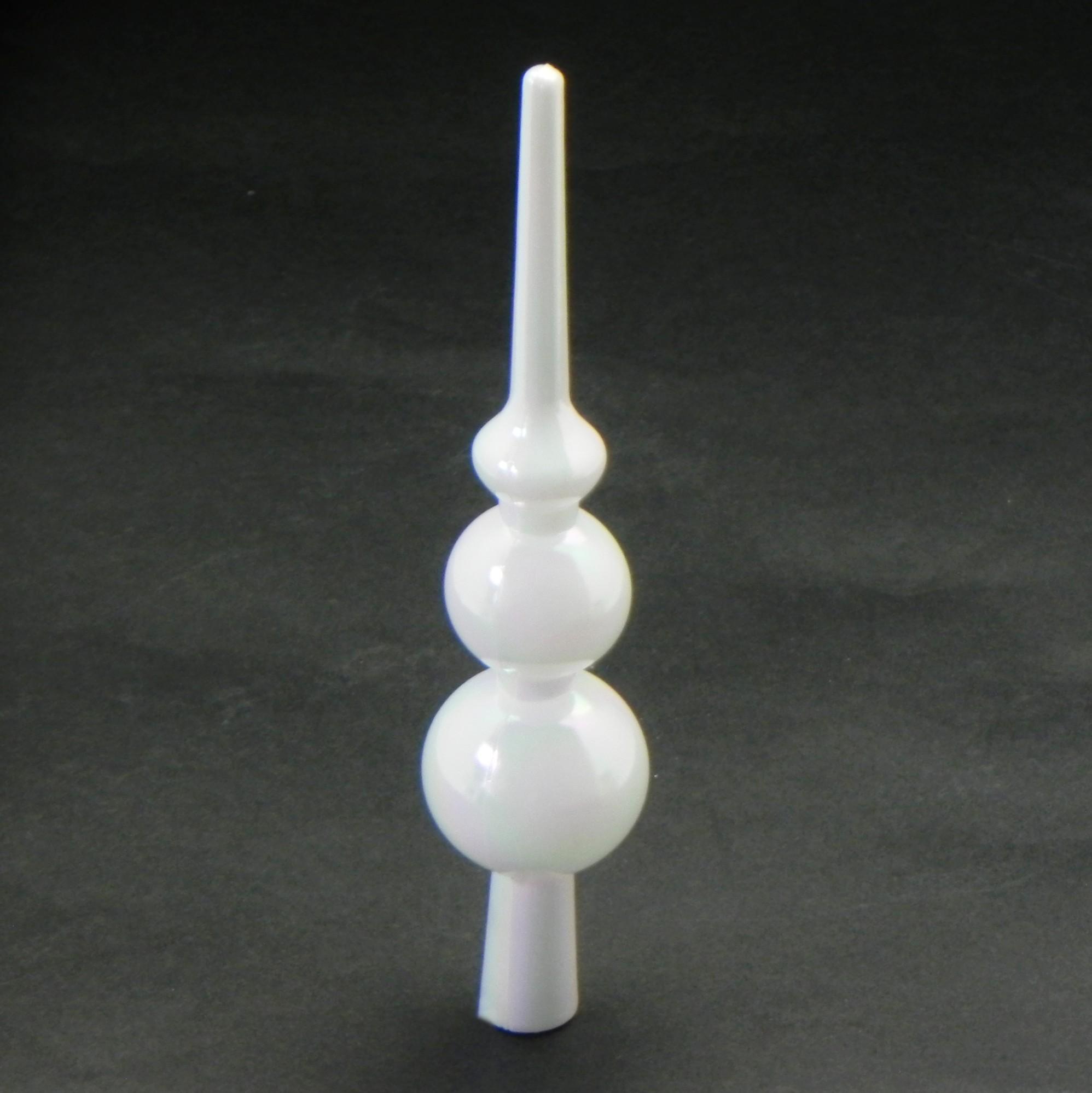 Špice vánoční pvc 15cm bílá