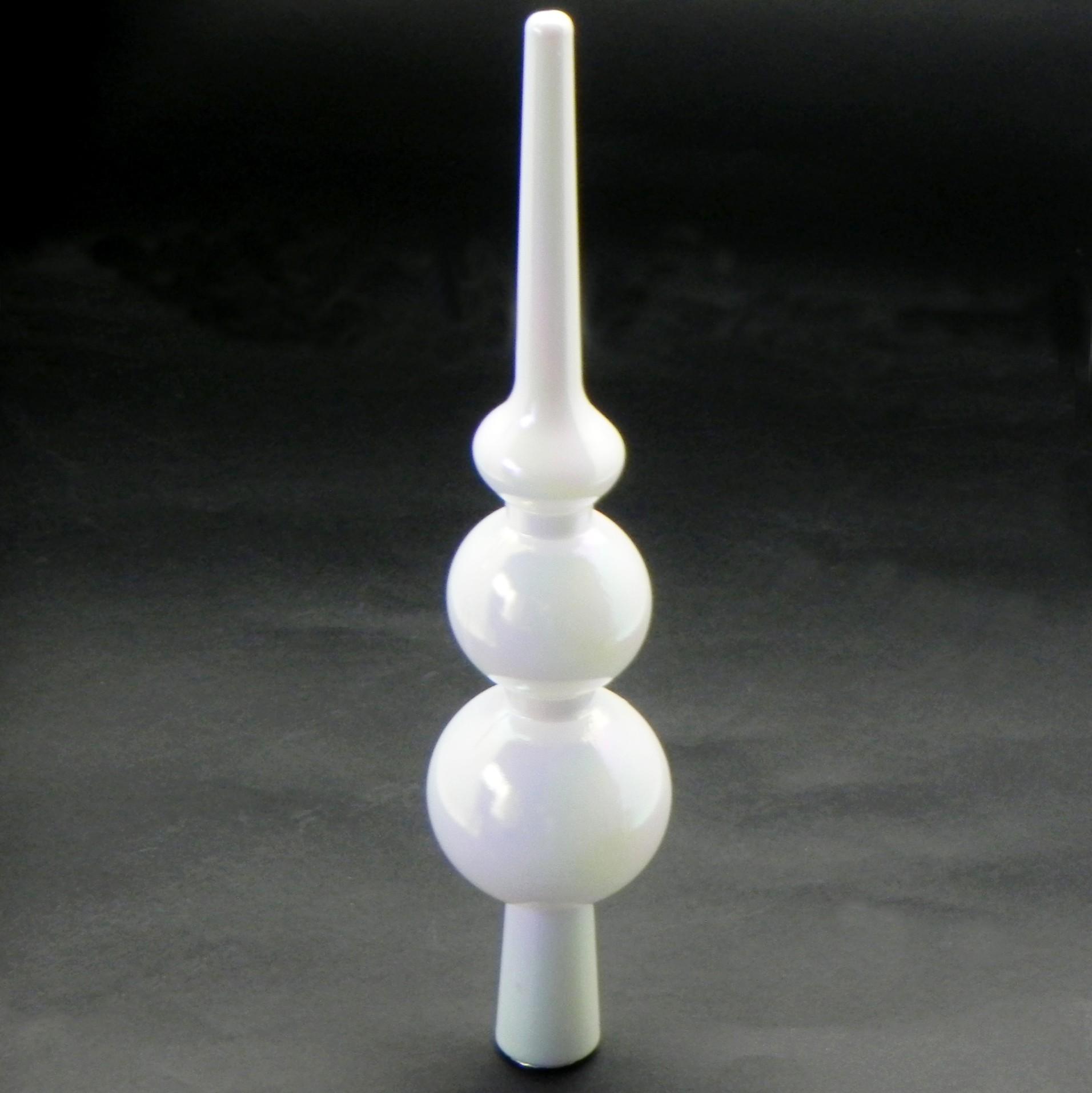 Špice vánoční pvc 27,5 cm bílá