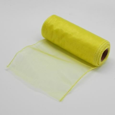 Organza obšitá š15cm/9m žlutá