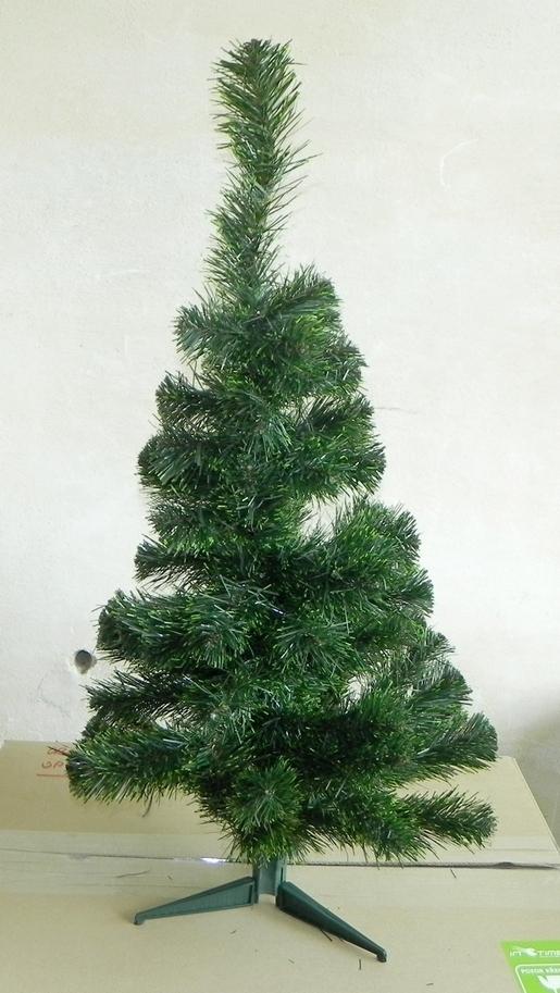 AKCE Jedle kavkaz - zelený konec umělá vánoční 90cm
