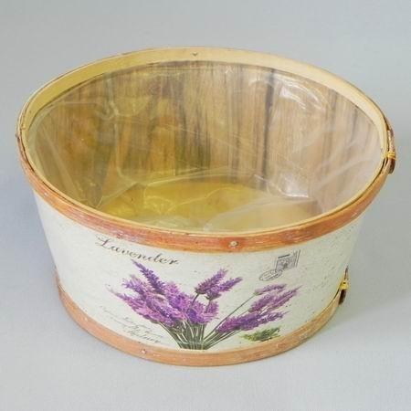 Miska levandule dřevo pr.21V10cm