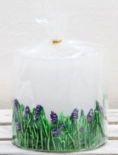 Svíčka Levandule bílá 8 cm