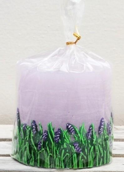 Svíčka Levandule fialová 14 cm