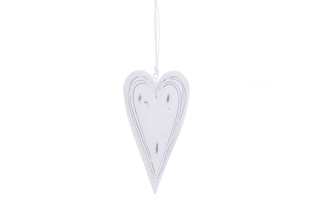 Závěsná dekorace srdce reliéf