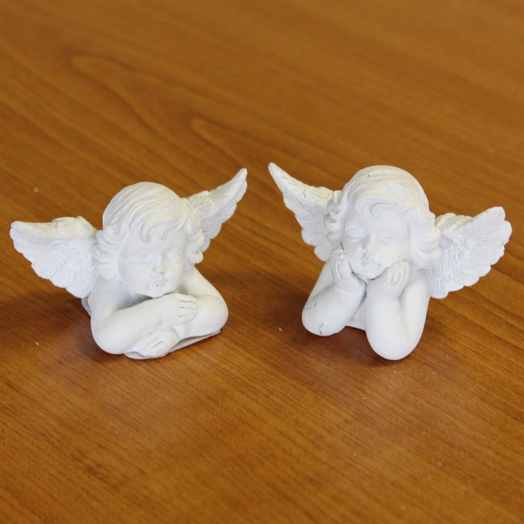 Anděl sádra/cement 6,5cm