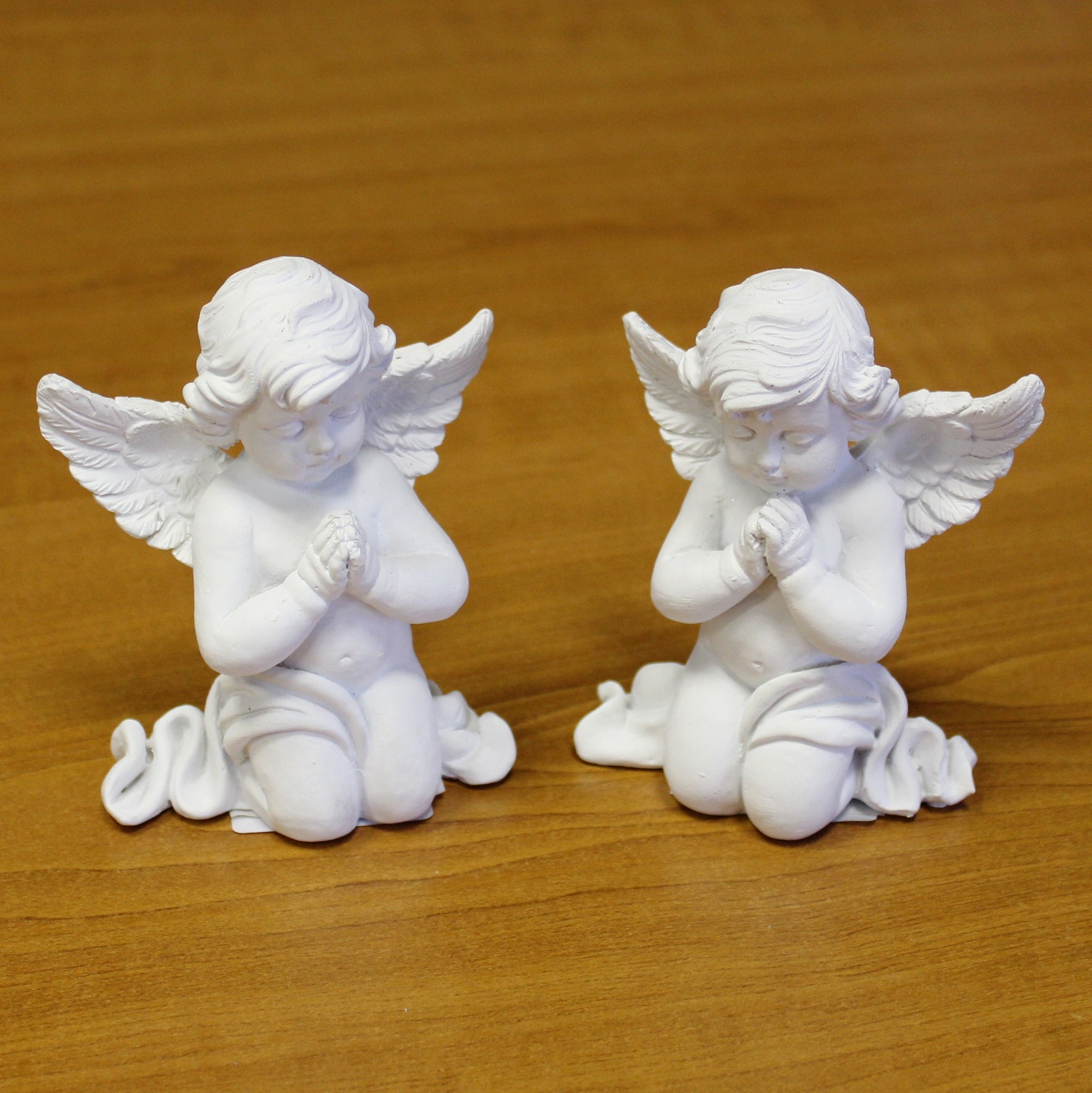 Anděl sádra/cement 8cm