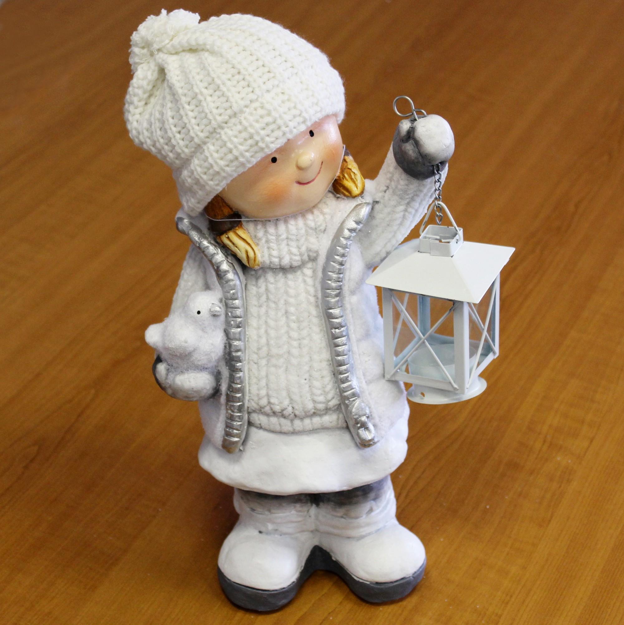 Děvče s lucernou keramika 39cm