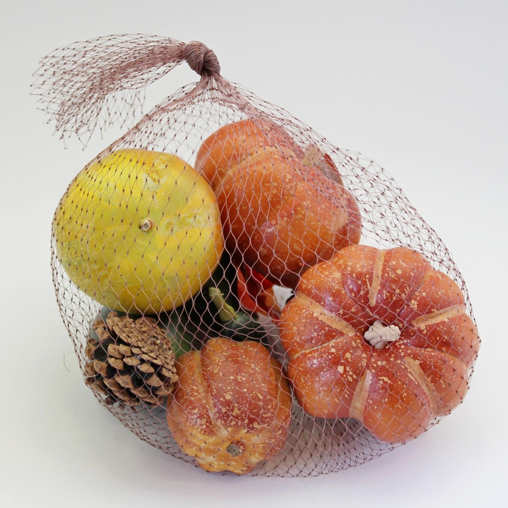 Dýně deco pvc 7ks oranžová