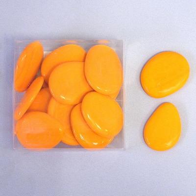 Nugety sklo placaté 300g oranž