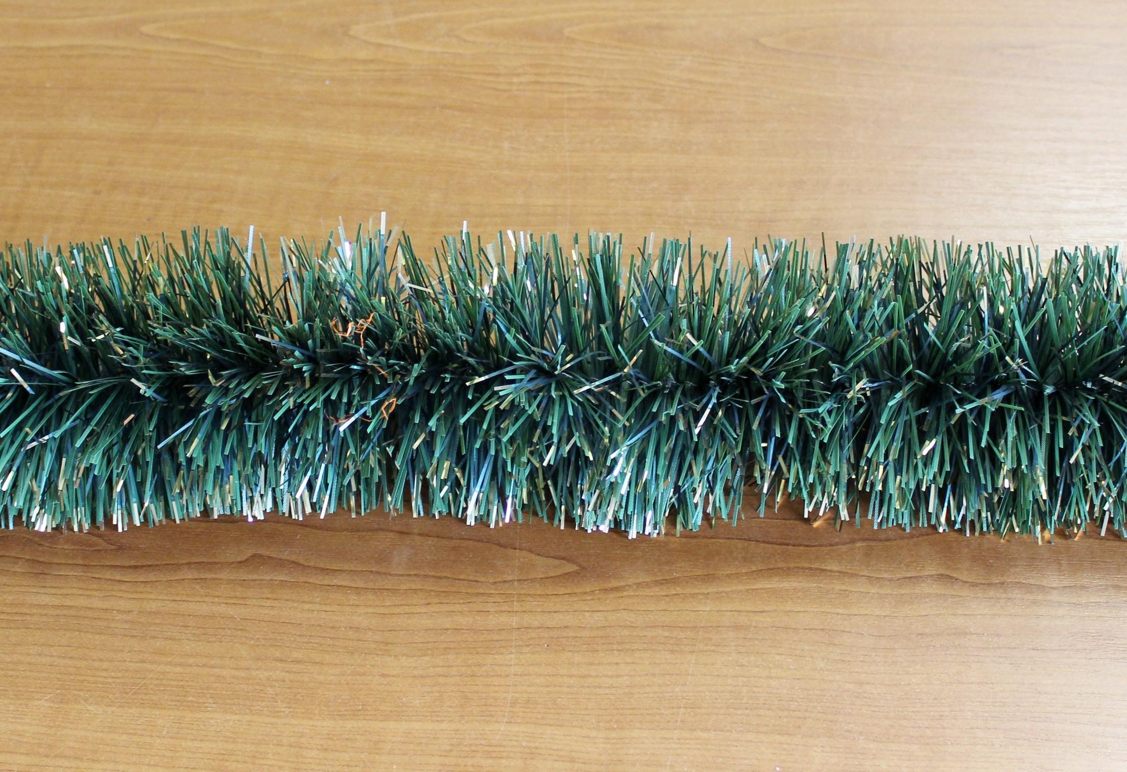 Řetěz vánoce 10cm/6m zeleno-zlatý