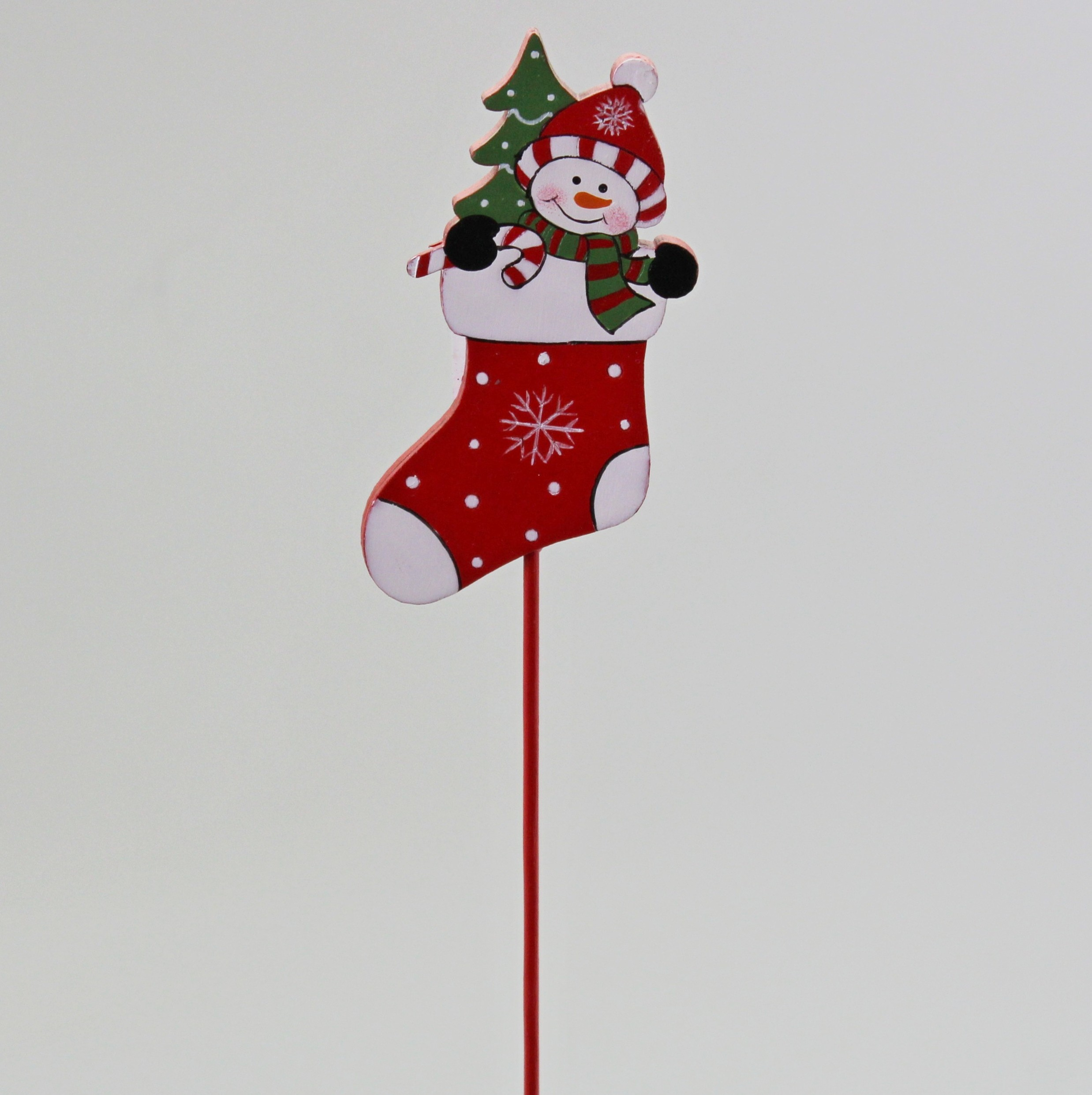 Zápich vánoce dřevo 4/27cm