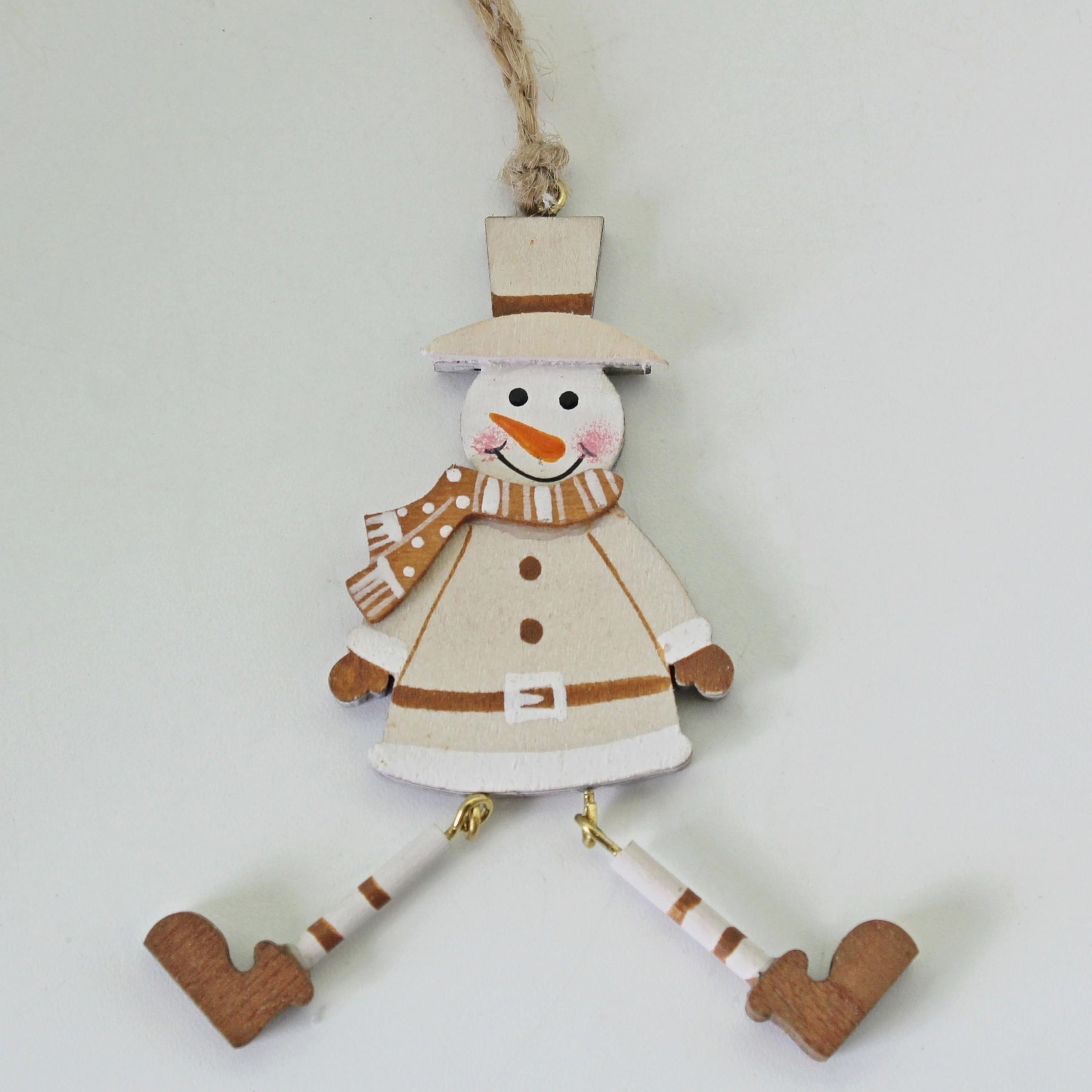 Sněhulák závěs dřevo 8,5cm