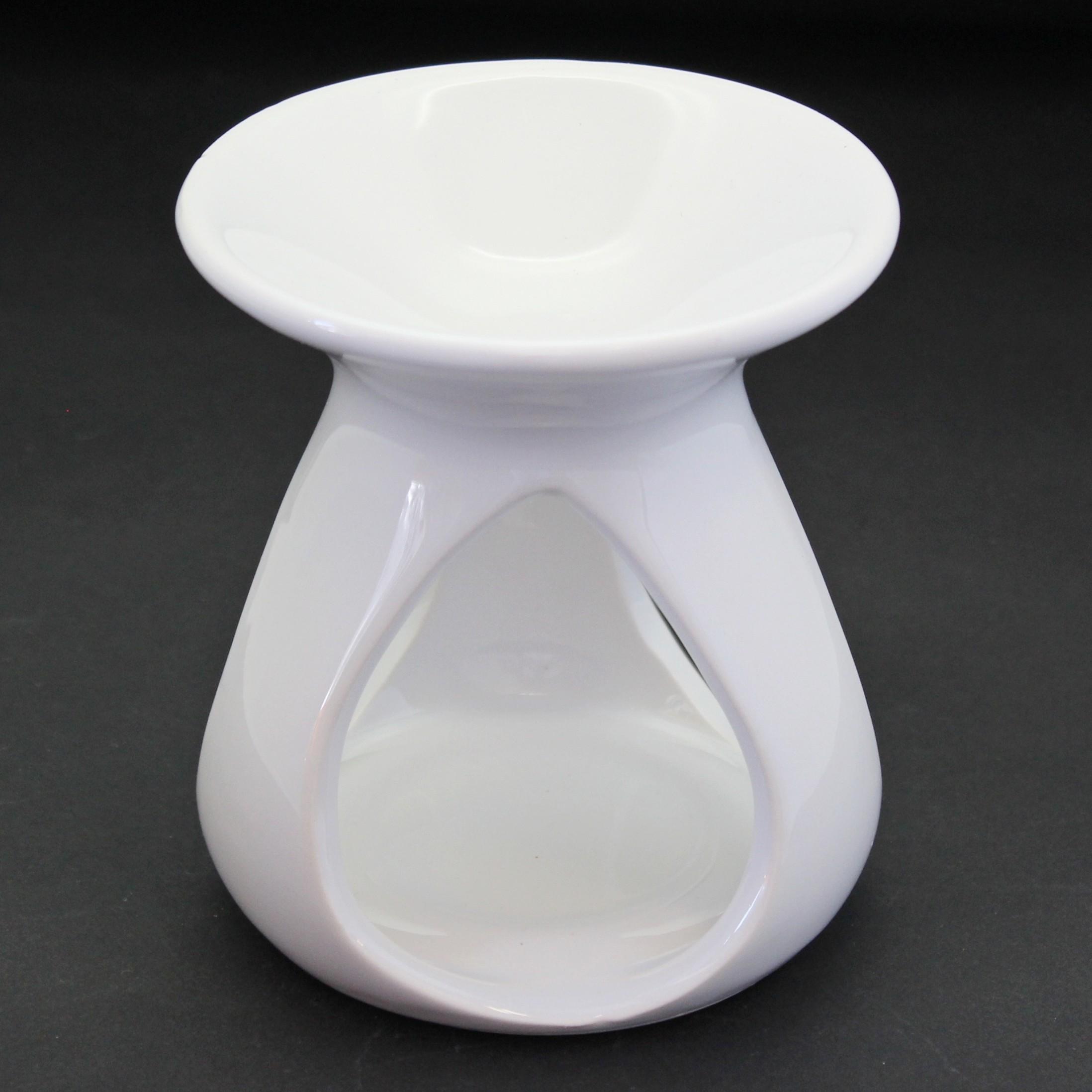 Aromalampa keramika bílá