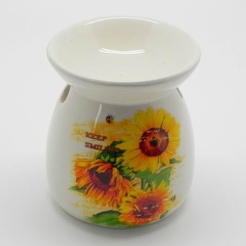 Aromalampa slunečnice keramika