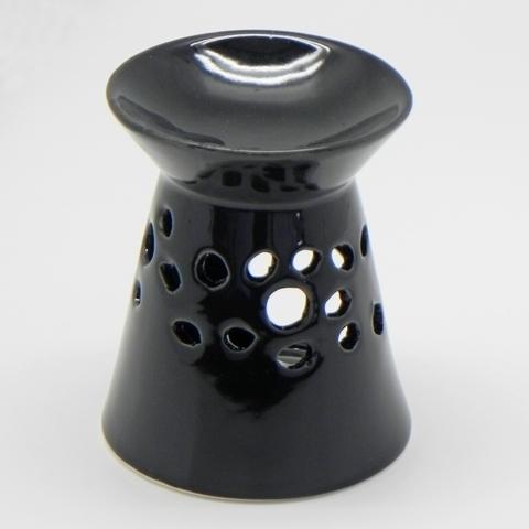 Aromalampa keramika černá