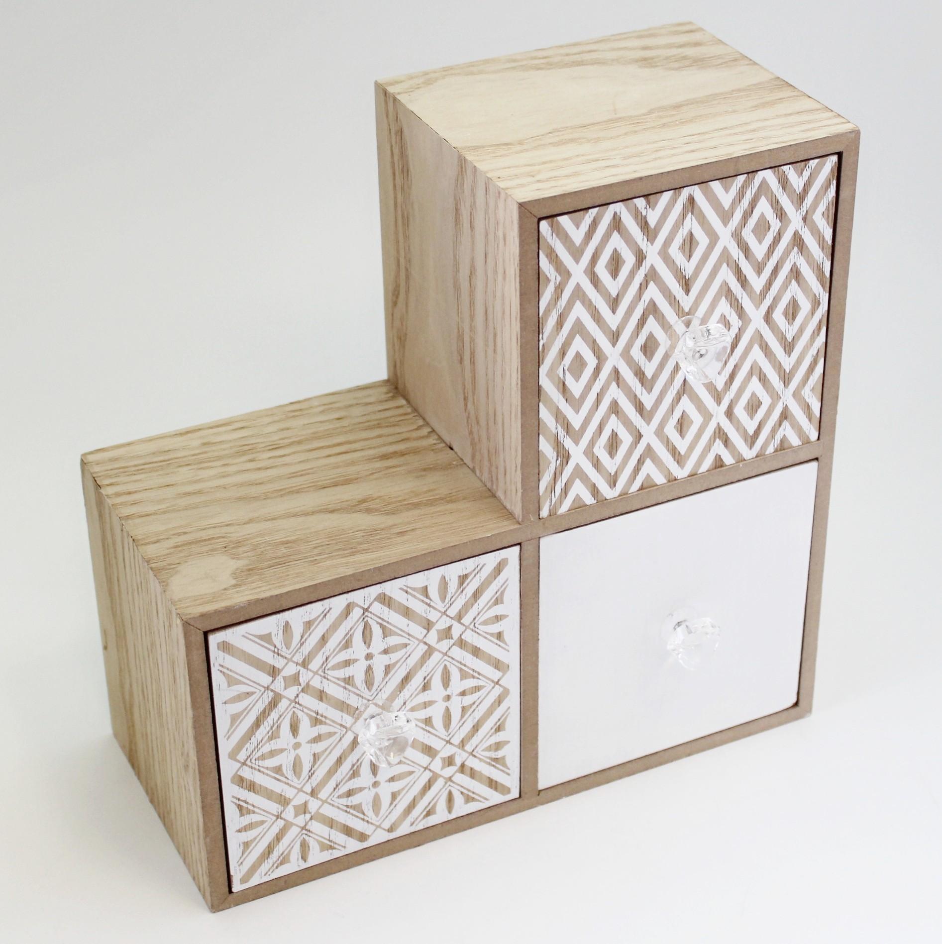 Kabinet dřevo 22x11,5cm natural/bílá