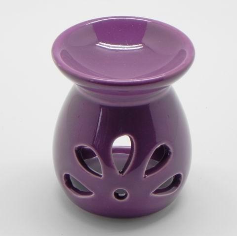 Aromalampa keramika fialová