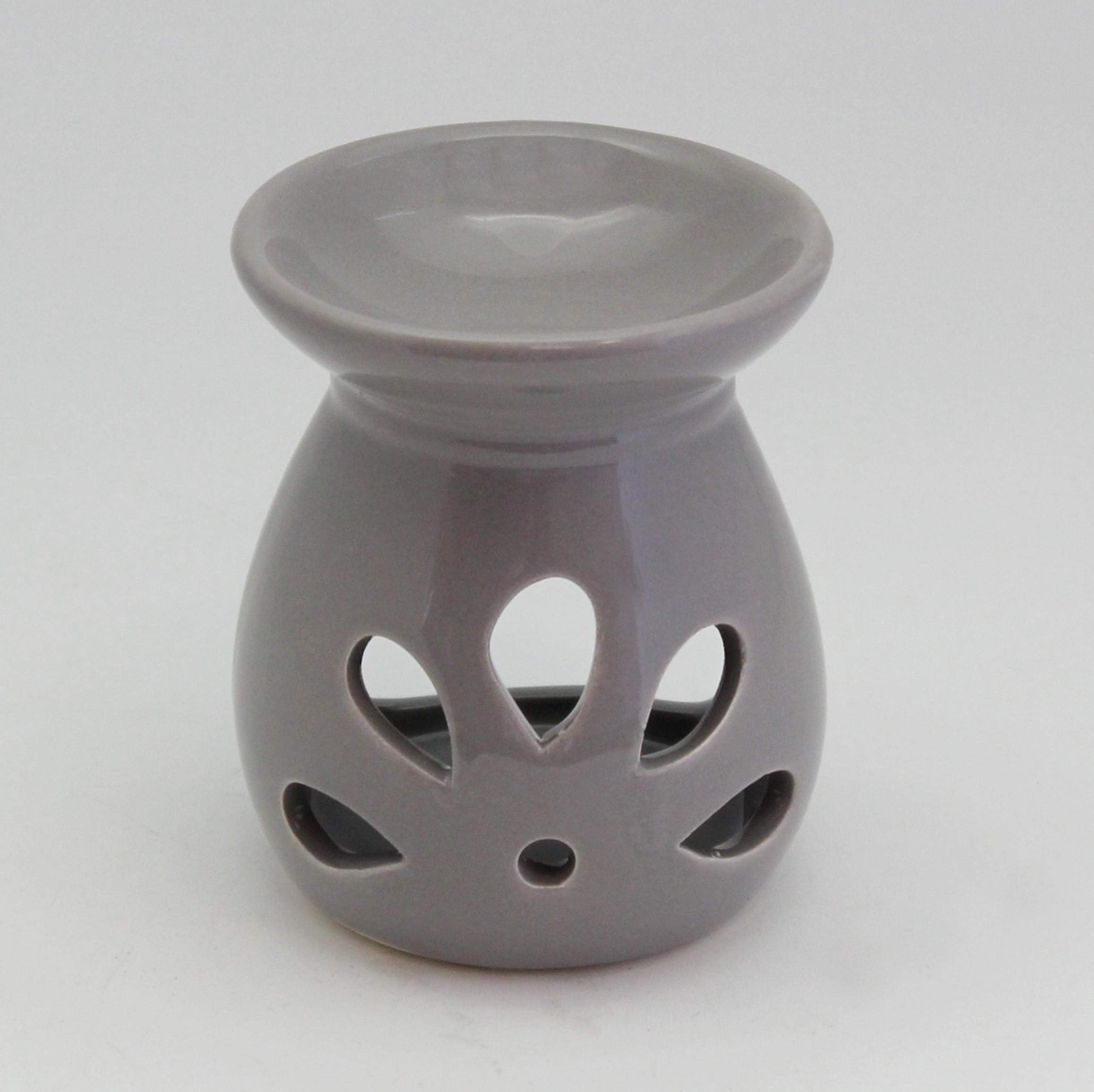 Aromalampa keramika šedá