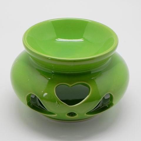 Aromalampa keramika zelená