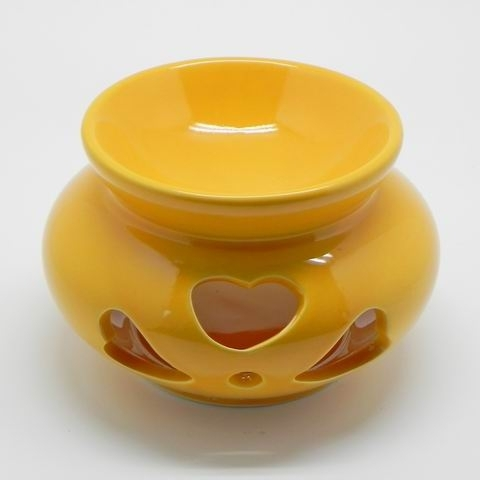 Aromalampa keramika žlutá