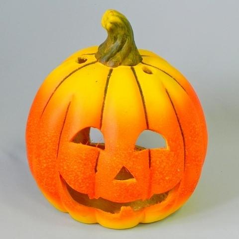 Dýně svíčník keramika oranžová