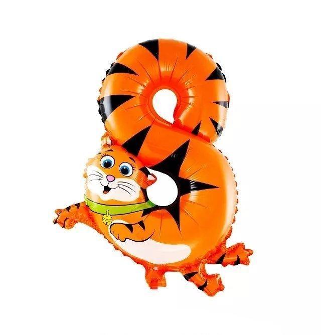 "Nafukovací balónky číslice ""osm"" kočka (QGQYGAVJ8)"
