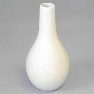Váza keramika 13,5x13,5V26,5cm bílá