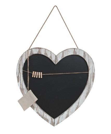 Popisovací tabule srdce 49x50cm