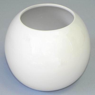 Váza koule keramika pr.18,3x18,2V15,8 bílá
