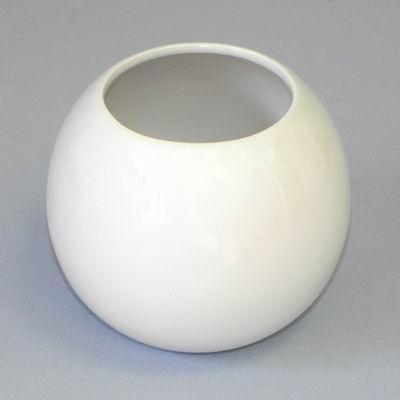 Váza koule keramika pr.8/14V12cm bílá