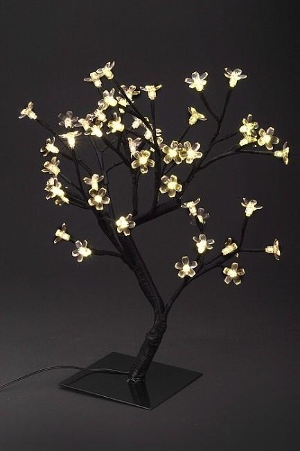 Dekorativní strom, 48 LED, žluté světlo