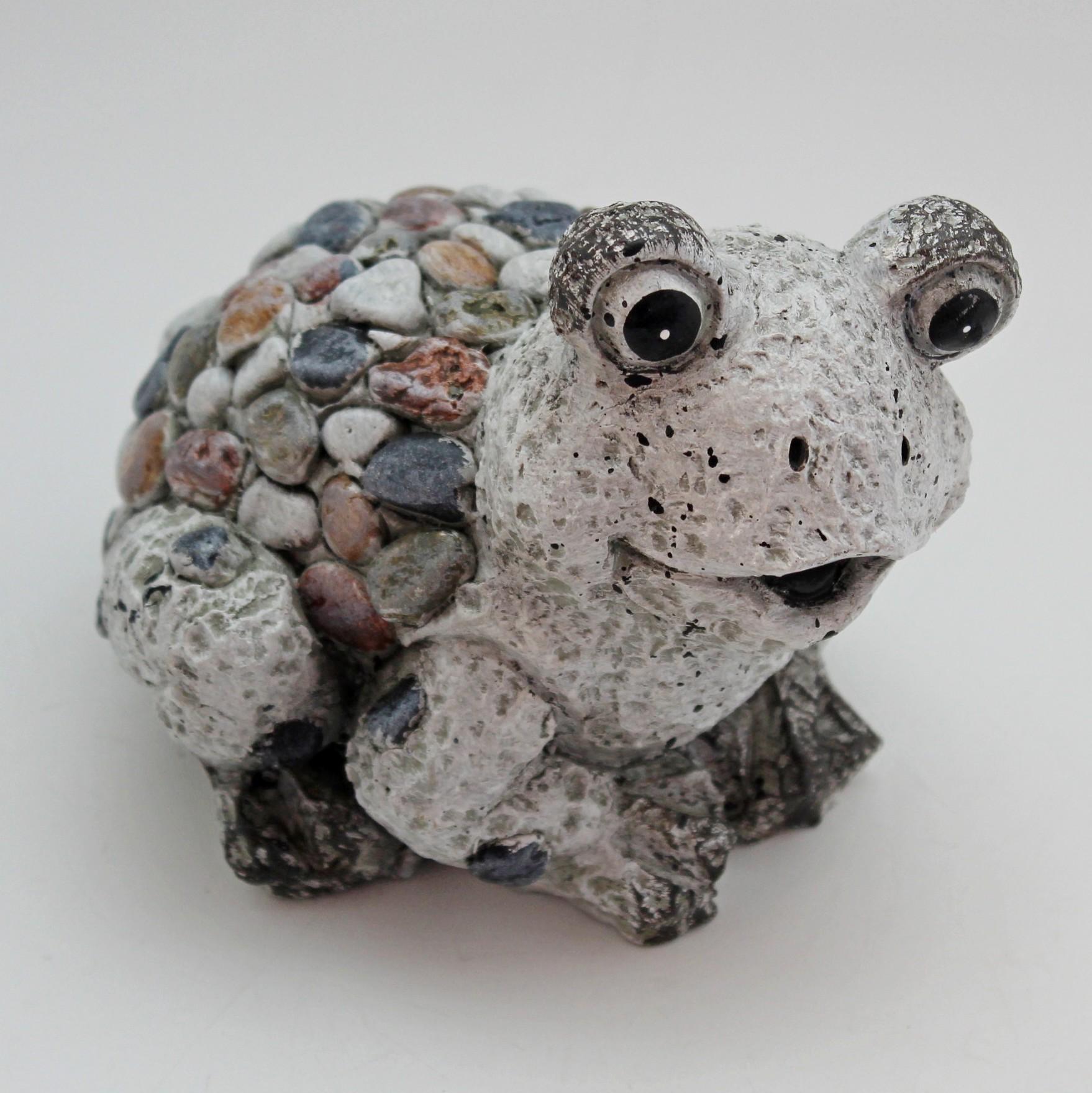 Žába kamínky polyresin 14cm