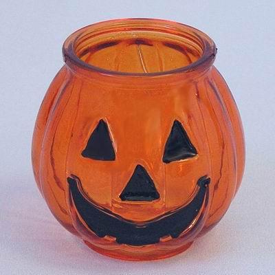 Svíčník helloween sklo pr.7,5xv7,5cm