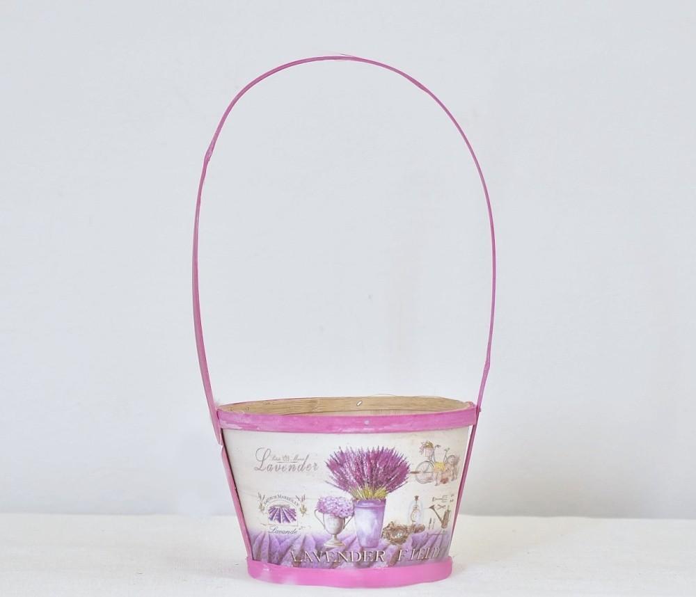 Dřevěný košík Lavender 14,5 cm