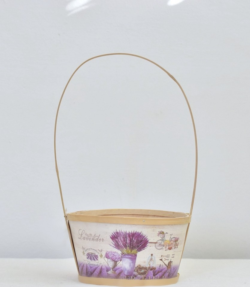 Dřevěný košík Lavender 20 cm