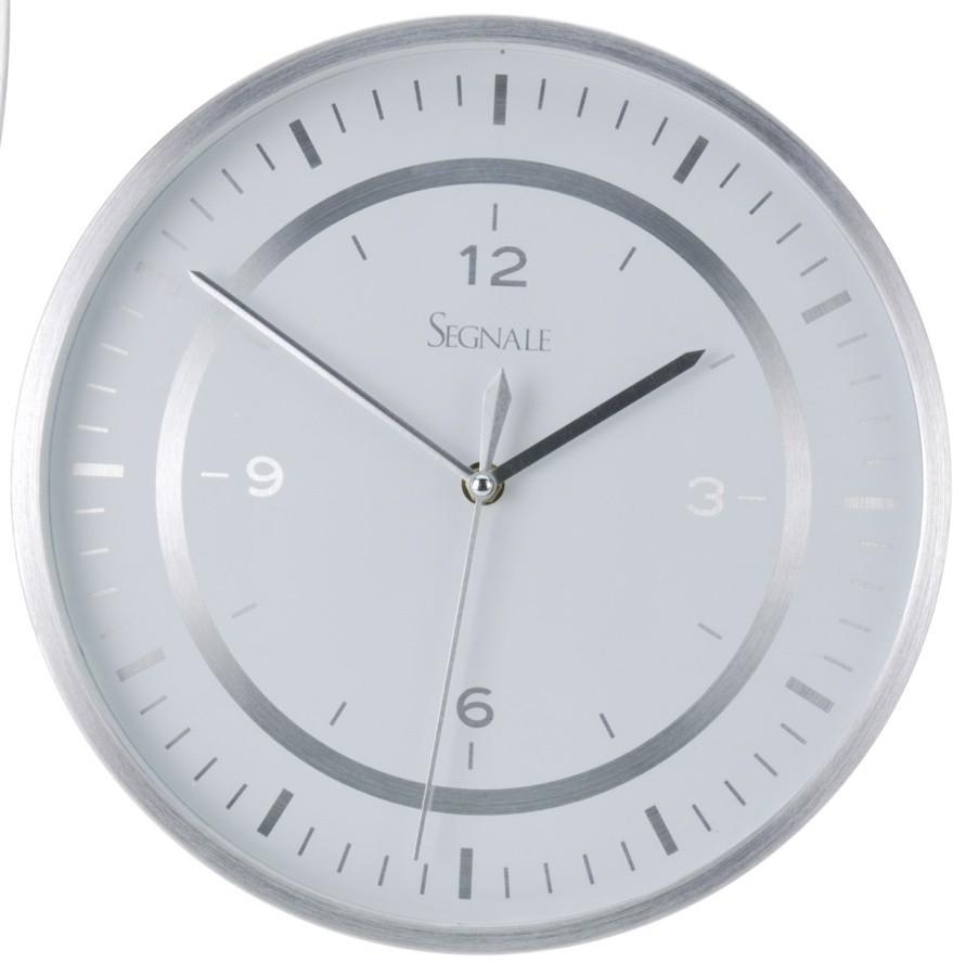 Hliníkové nástěnné hodiny bílé 30 cm