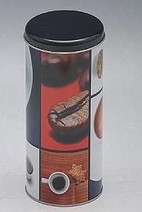 Plechová dóza na kávu