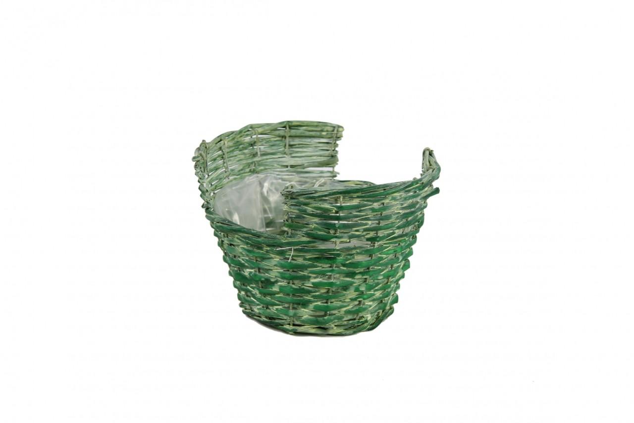 Proutěný košík zelený