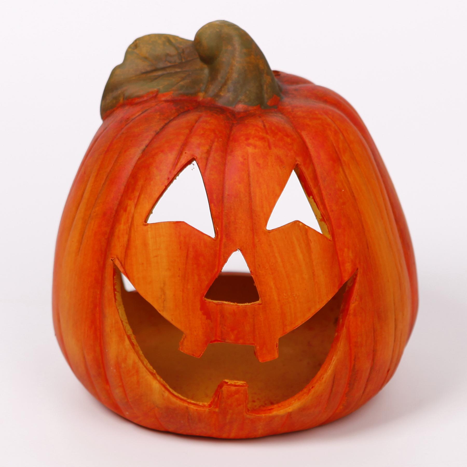 Dýně svícen keramika helloween 18,5cm