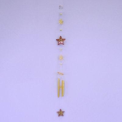 Hvězdičky zvonkohra pvc/kov 50x5cm krémová